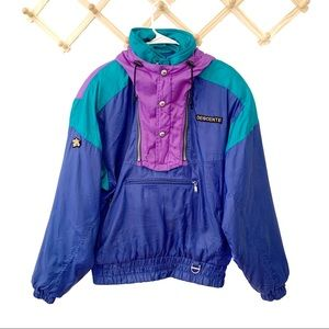 Descente Vintage '80s Ski Jacket Blue Size Medium
